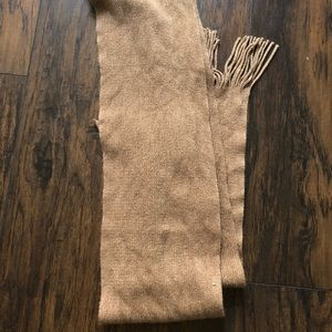 Gold and tan scarf